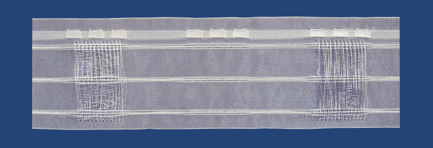Transparent Tape for Rod with Cords and Pockets