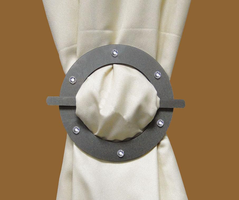 Tieback Plexiglass Round Silver Cupchain