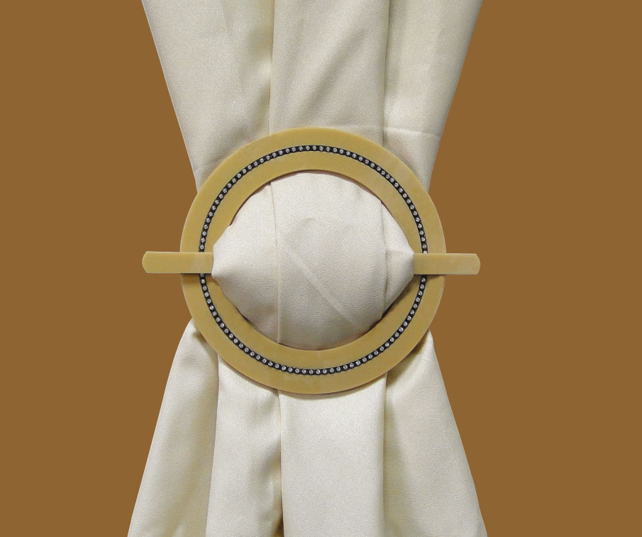 Tieback Plexiglass Round Black Cupchain