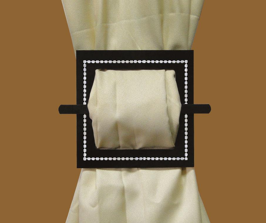 Tieback Plexiglass Square Silver Cupchain